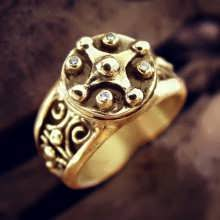 Mayan Venus Jupiter Ring Gold (*Limited Edition*)