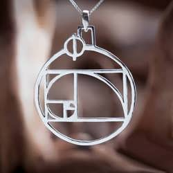 The Phi pendant. Golden Mean in it's purest form