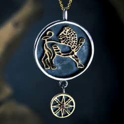 Sun in Leo Talisman Pendant Silver and Gold (*Pre Order*)