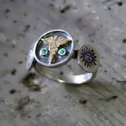 Alchemical Talisman Ring and Related Jewelry