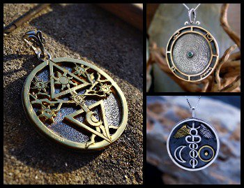 New Alchemical Cosmic Tree Pendant