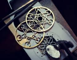 Working on a new three layers Metatron's Cube