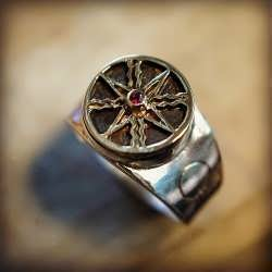 Another finished Solar Power talismanic Ring from the limited edition on it's way to Australia