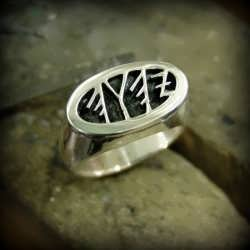 The finished silver version of King Solomon's Signet Ring
