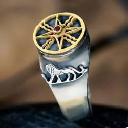 Sun in Leo Talisman Ring Silver and Gold (*Pre Order*)