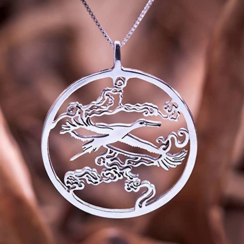 Japanese Stork pendant