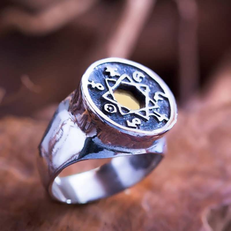 The Chaldean Order/ Seven metals Astrology Ring.