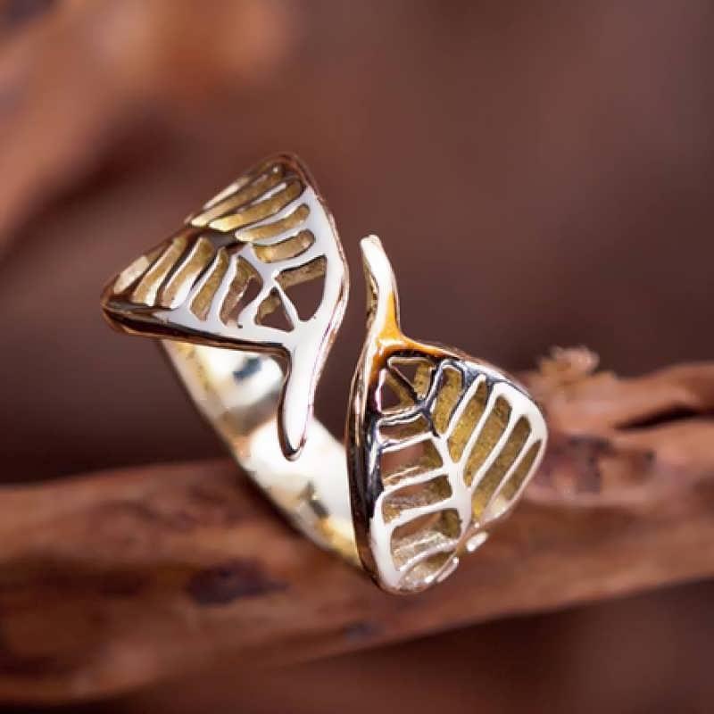 A 14k gold Buddhi Ring