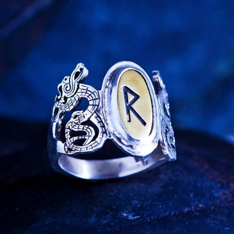 A silver Runes Ring