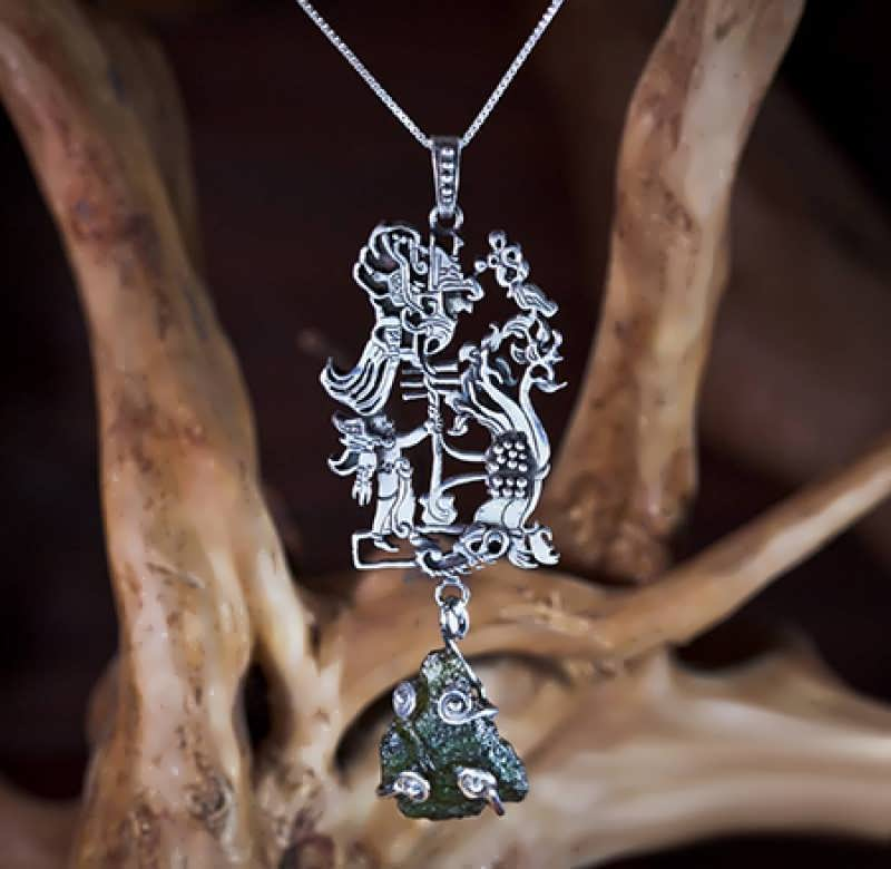 Added a silver version of The Star Children pendant-set with moldavite