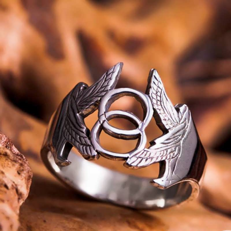 The Vesica Pisces Ring in silver