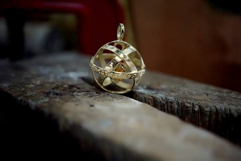 A gold Genesa Pendant set with Citrine-the stone of happiness and abundance