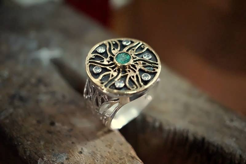 A finished The Royal Eye Of Horus Ring