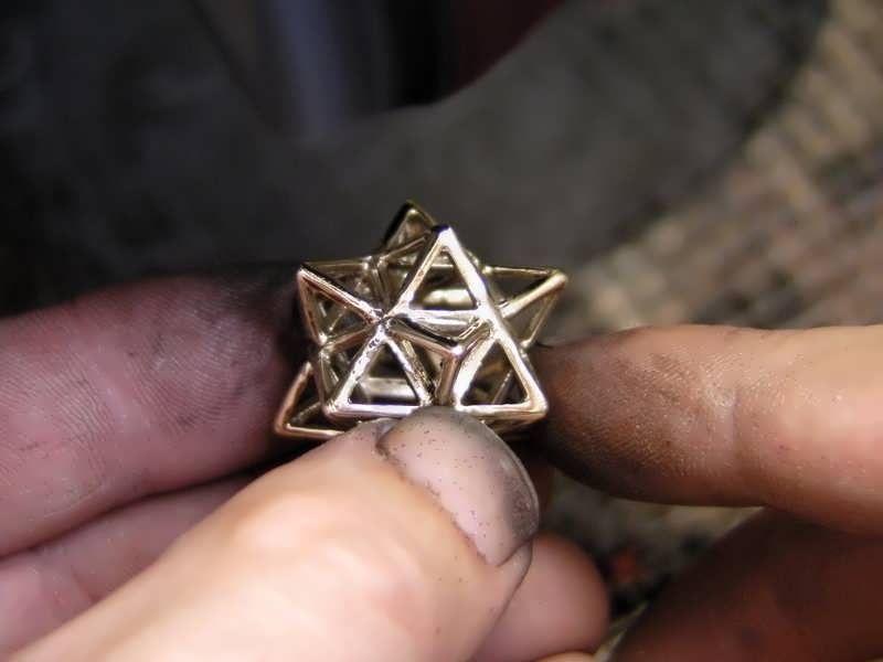 Finishinig a gold Alchemy pendant