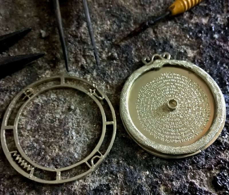 creating a gold version of The Emerald Tablet Pendant