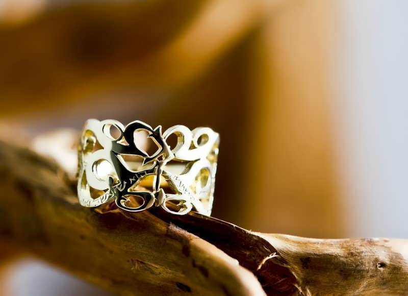 """A finished """"This Too Shall Pass"""" Ring in 14k gold now with 15% discount"""