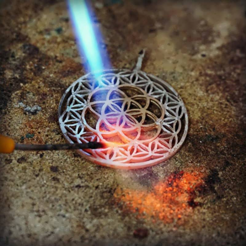 Working on the new Flower of Life with Gold Seed of Life in the Center