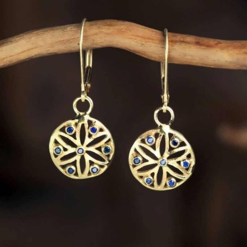 Ka Earrings Gold With Gemstones - Mother's Day Specials 15% discount