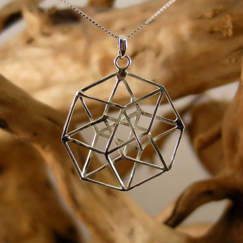 The Hypercube/Tesseract pendant