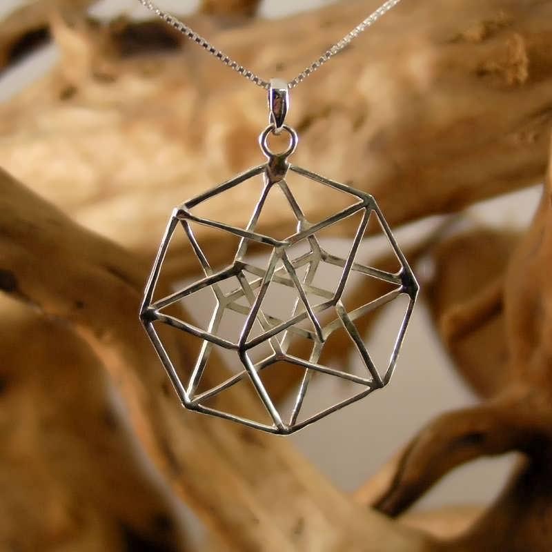 The Hypercube/Tesseract pendant