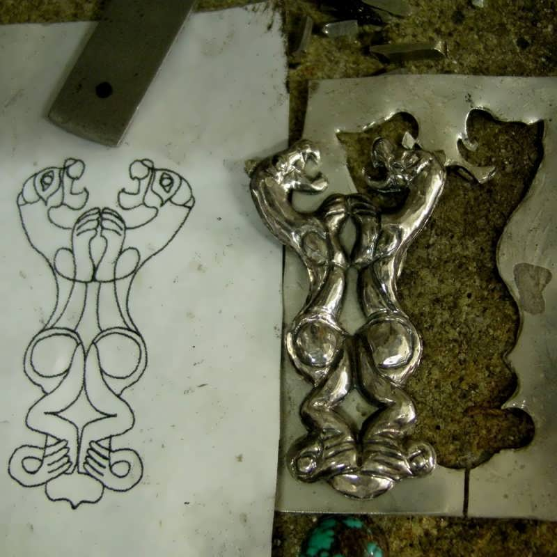 ancient Persian royal symbol of two tigers/lions