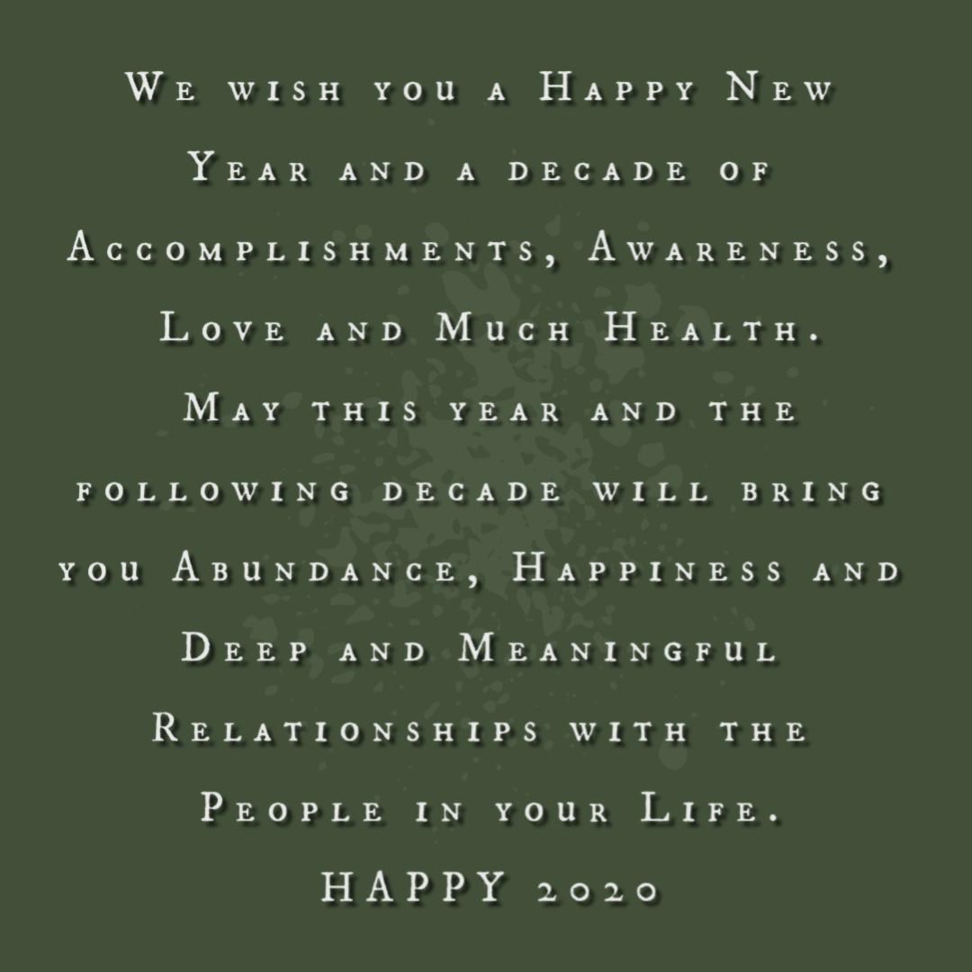 2020 Blessings