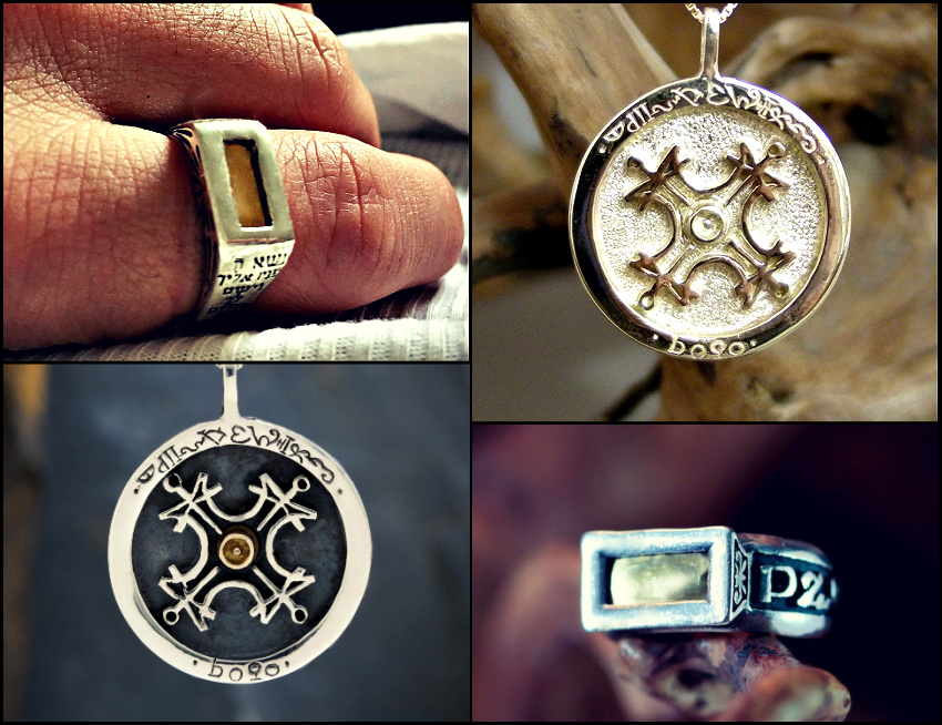 Sun Talismans                                 and Five metals Rings