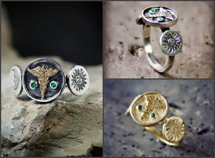 Alchemical Wedding Rings