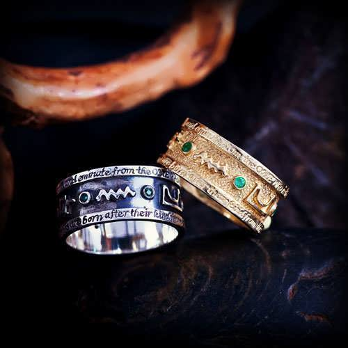 Emerald Tablet Rings