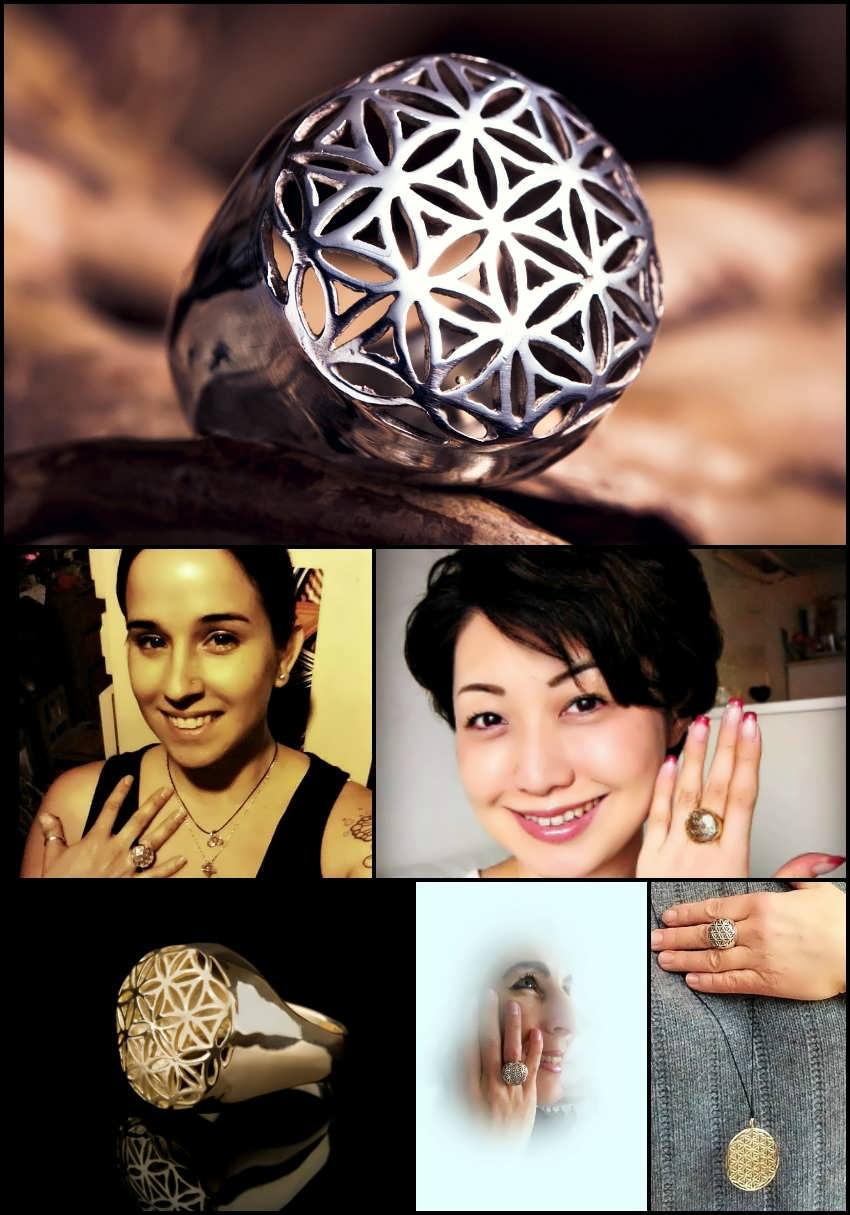 Flower of Life Rings