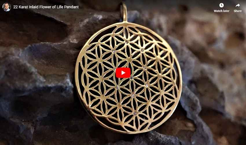 22K inlaid Flower of Life