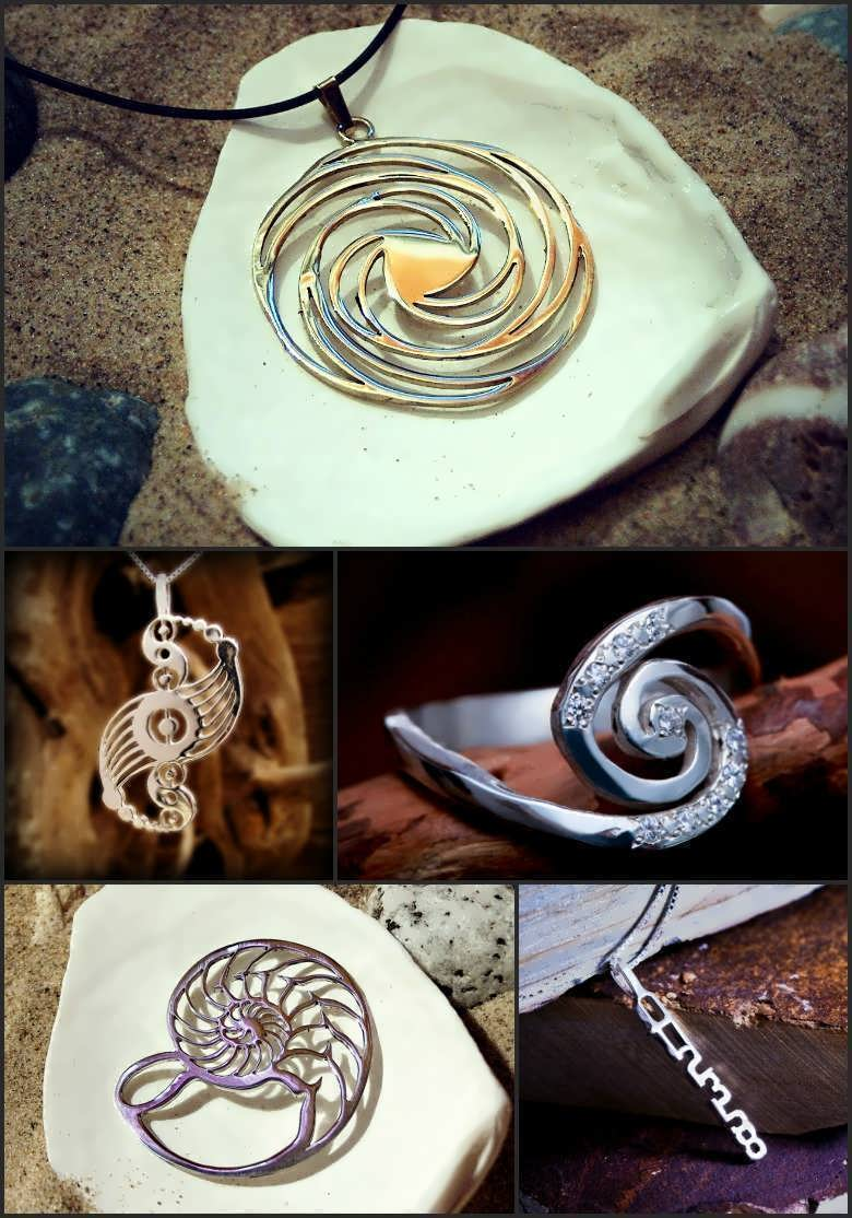 Golden Mean Spiral Related Jewelry