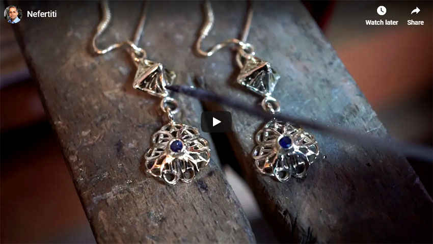 Nefertiti Lotus                   Earrings