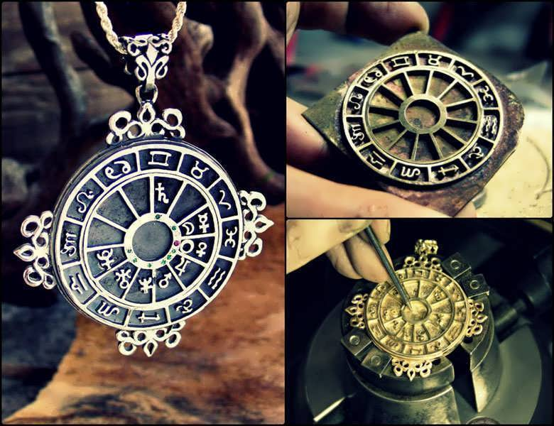 Personalized cosmic sigil talisman pendant