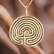Labyrinth Pendant Gold 307