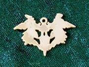 Blot of Rorschach Pendant Gold 259