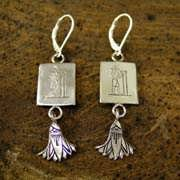 Aquarius Earrings Silver 495