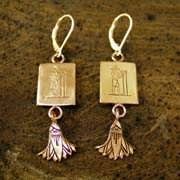 Aquarius Earrings Gold 496
