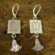 Cancer Earrings Silver