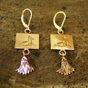 Capricorn Earrings Gold 502