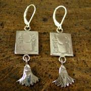 Gemini Earrings Silver 503