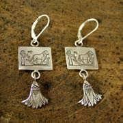Löwe Ohrringe Silber 505