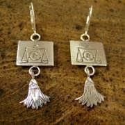 Waage Ohrringe Silber 507