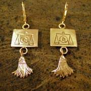 Libra Earrings Gold 509