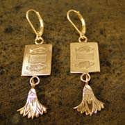 Pisces Earrings Gold 511