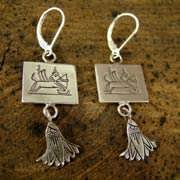 Sagittarius Earrings Silver 512