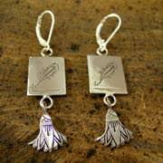 Scorpio Earrings Silver 514
