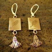 Scorpio Earrings Gold 515
