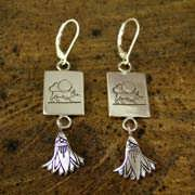 Taurus Earrings Silver 516
