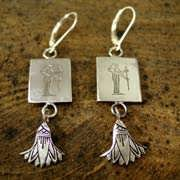 Virgo Earrings Silver 518